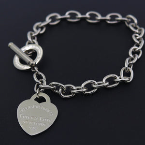 Heart Shape Bracelet - Jewelux & Co.