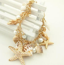 Starfish Pearl Charm Bracelet - Jewelux & Co.