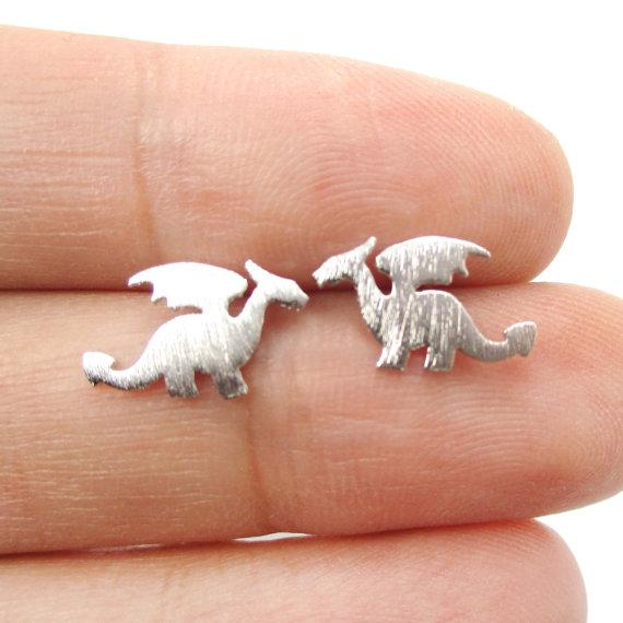 Tiny Dinosaur Stud Earring - Jewelux & Co.