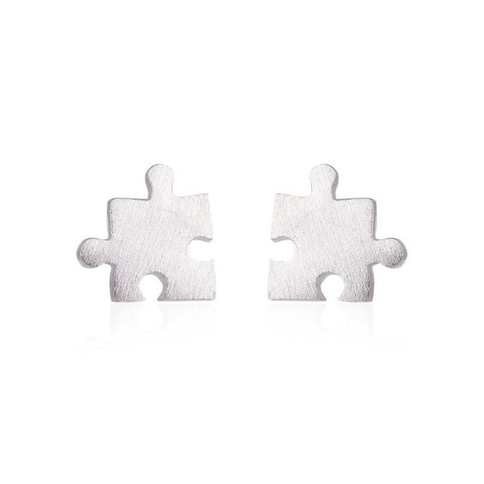 Tiny Game Puzzle Stud Earring - Jewelux & Co.
