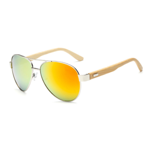 Wooden Frame Aviator Sunglasses - Jewelux & Co.