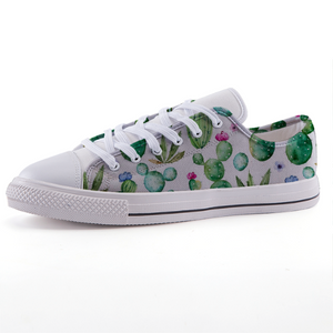 Cactus Bloom: Low-top fashion canvas shoes (size 32 to 43)