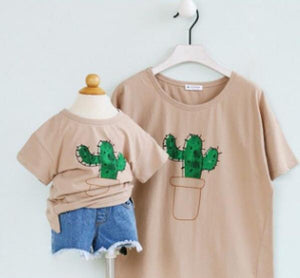 """Ouch"" Cactus Brown Tshirt"