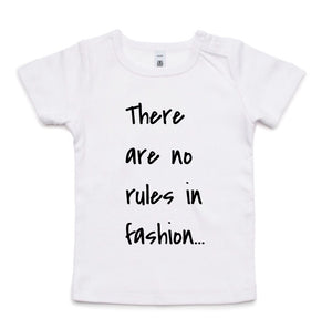 There are no rules in fashion