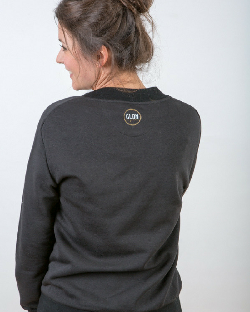 Basic sweatshirt with GLDN logo