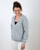 Basic v-hals sweater voor dames - GLDN