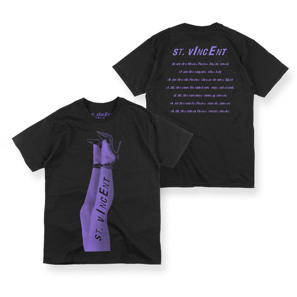 PURPLE LEGS TOUR 2018 BLACK T-SHIRT