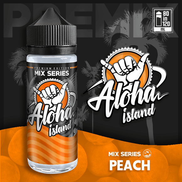 ALOHA ISLAND MIX-SHAKE-VAPE - 80/120ML - PEACH (ΡΟΔΑΚΙΝΟ)