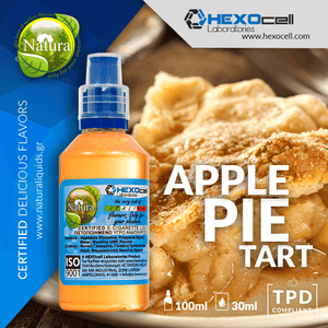 NATURA MIX-SHAKE-VAPE - 30/60ML - APPLE PIE TART (ΤΑΡΤΑ ΜΗΛΟΥ)