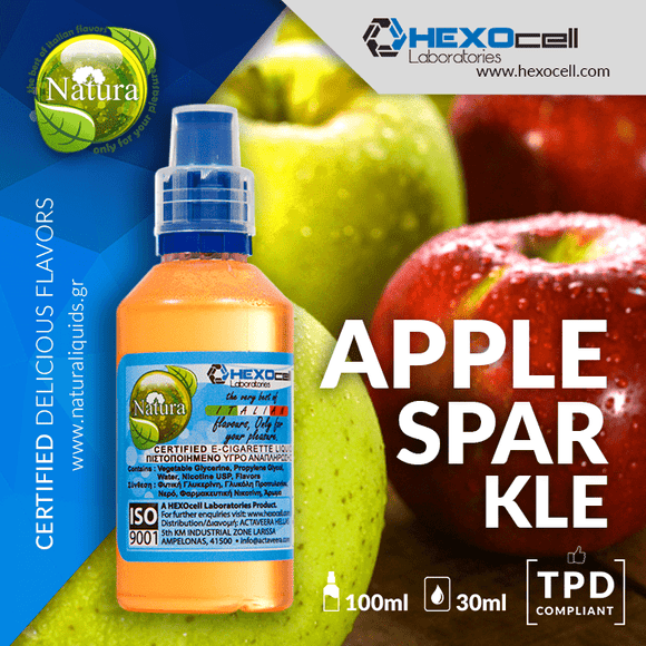 NATURA MIX-SHAKE-VAPE - 30/60ML - APPLE SPARKLE (ΑΝΑΨΥΚΤΙΚΟ ΜΗΛΟΥ)