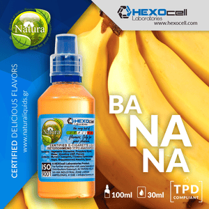 NATURA MIX-SHAKE-VAPE - 30/60ML - BANANA (ΜΠΑΝΑΝΑ)