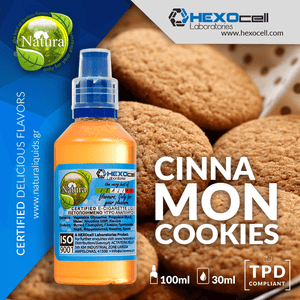 NATURA MIX-SHAKE-VAPE - 30/60ML - CINNAMON COOKIES (ΜΠΙΣΚΟΤΑ ΚΑΝΕΛΑΣ)
