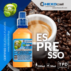 NATURA MIX-SHAKE-VAPE - 30/60ML - ESPRESSO (ΚΑΦΕΣ ΕΣΠΡΕΣΟ)