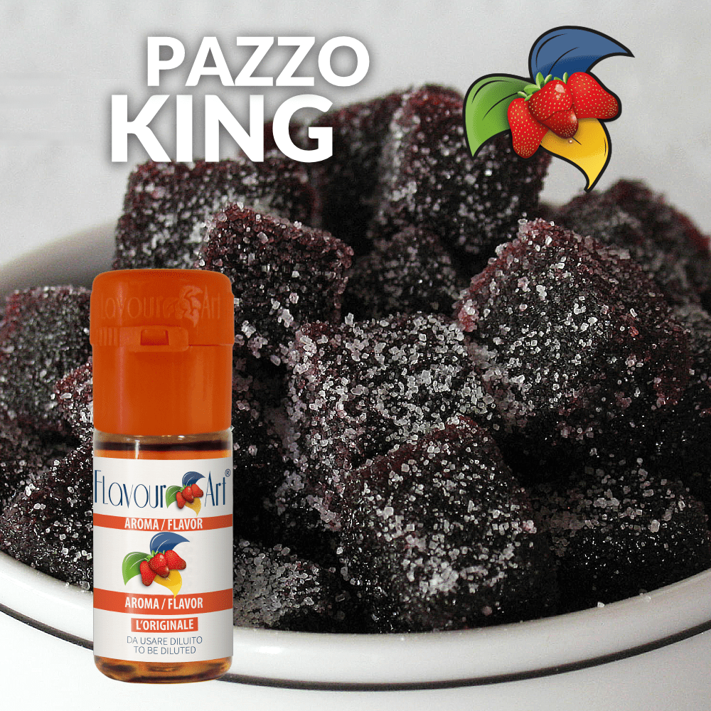 FLAVOURART - 10ML PAZZO KING (ΜΑΛΑΚΕΣ ΚΑΡΑΜΕΛΕΣ ΦΡΑΓΚΟΣΤΑΦΥΛΟΥ) ΣΥΜΠΥΚΝΩΜΕΝΟ ΑΡΩΜΑ