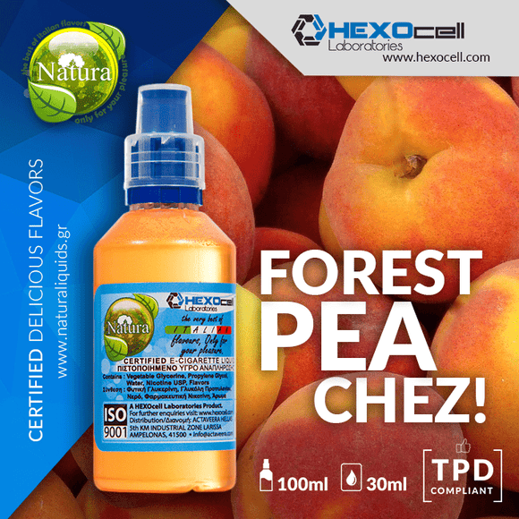 NATURA MIX-SHAKE-VAPE - 30/60ML - FOREST PEACHEZ! (ΡΟΔΑΚΙΝΟ & ΑΠΑΛΗ ΜΕΝΤΑ)