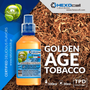 NATURA MIX-SHAKE-VAPE - 30/60ML - GOLDEN AGE TOBACCO (ΜΙΓΜΑ ΜΕ ΕΠΕΞΕΡΓΑΣΙΑ CAVENDISH ΚΑΠΝΟΥ VIRGINIA & PERIQUE ΚΑΠΝΟΥ)
