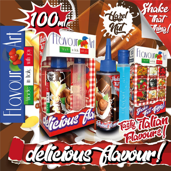 FLAVOURART MIX & SHAKE 100ML - HAZELNUT (ΦΟΥΝΤΟΥΚΙ)