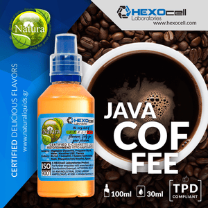 NATURA MIX-SHAKE-VAPE - 30/60ML - JAVA COFFEE (ΚΑΦΕΣ JAVA)