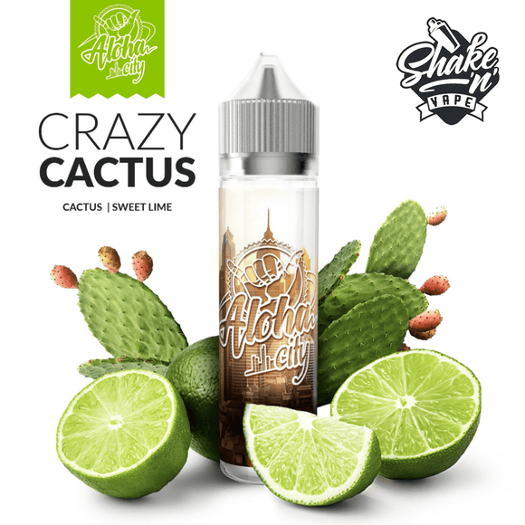 ALOHA CITY MIX-SHAKE-VAPE - 40/60ML - CRAZY CACTUS (ΚΑΚΤΟΣ & ΓΛΥΚΟ ΛΑΙΜ)