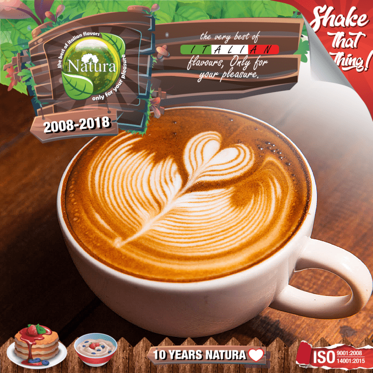 NATURA SPECIAL MIX-SHAKE-VAPE - 60/100ML - COFFEE LATTE (ΚΑΦΕΣ ΛΑΤΕ)