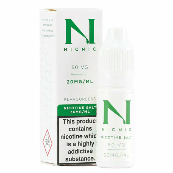 NICOTINE SALT BOOSTER BASE 20MG NICNIC 50/50 VG/PG - 10ML (ΝΙΚΟΤΙΝΟΥΧΑ ΒΑΣΗ)