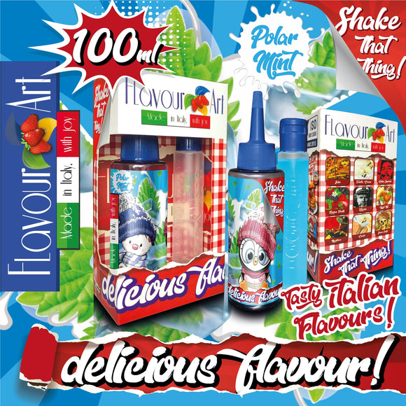 FLAVOURART MIX & SHAKE 100ML - POLAR MINT (ΓΛΥΚΙΑ ΜΕΝΤΑ)