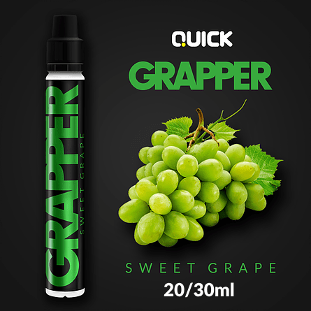 QUICK MIX-SHAKE-VAPE - 20/30ML - GRAPPER (ΠΡΑΣΙΝΑ ΣΤΑΦΥΛΙΑ)
