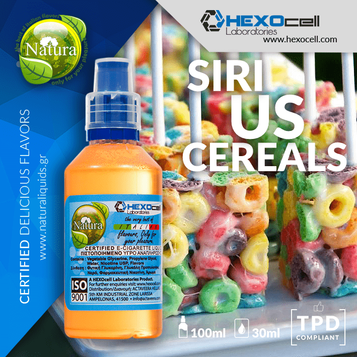 NATURA MIX-SHAKE-VAPE - 30/60ML - SIRIUS CEREALS (ΔΗΜΗΤΡΙΑΚΑ FROOT LOOPS & ΓΑΛΑ)