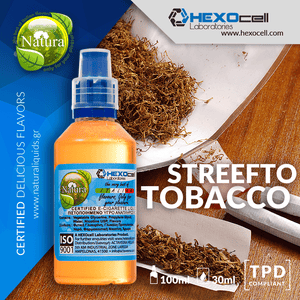 NATURA MIX-SHAKE-VAPE - 30/60ML - STREEFTO TOBACCO (OLD HOLBORN, AMERICAN SPIRIT, DRUM & GOLDEN VIRGINIA)