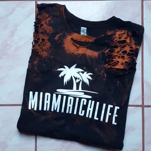 Miamirichlife Bleach Tee