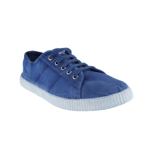 SUPER CREASE BLUE SNEAKERS