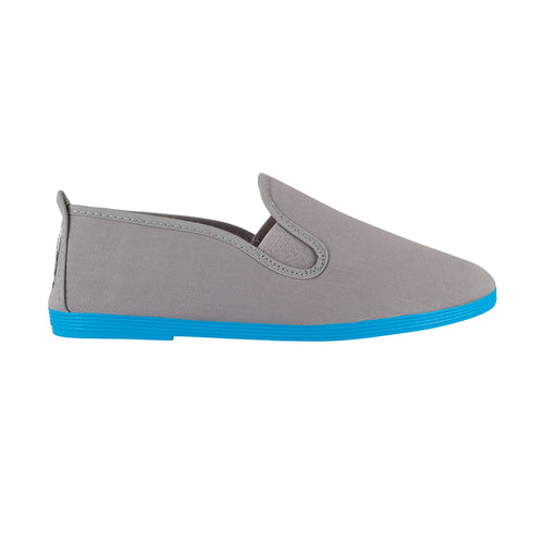 COLOURED SOLE GREY BLUE SOLE