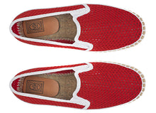 PREMIUM ESPADRILLES  RED AND WHITE
