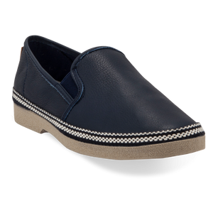 LEATHER ESPADRILLES NAVY