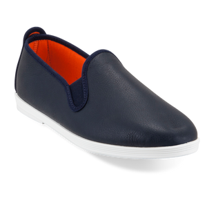 MADRID FLOSSY NAVY LEATHER