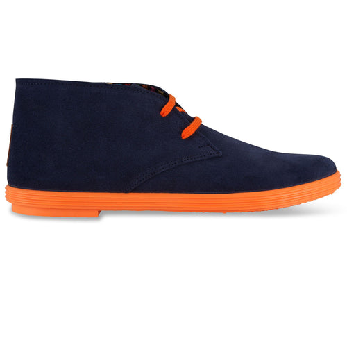 DESERT BOOTS NAVY BLUE / ORANGE