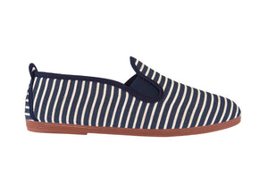 STRIPED PLIMSOLLS NAVY BLUE