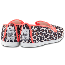 LEOPARD SHOES NEON PINK
