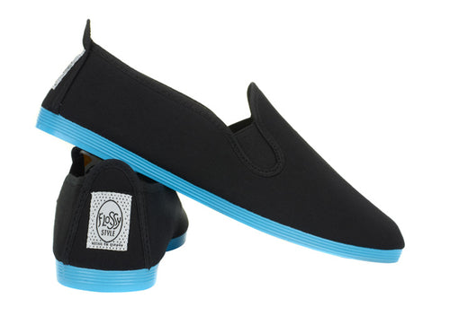 COLOURED SOLE BLACK BLUE SOLE