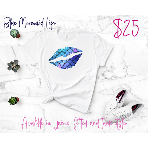 Mermaid Lips White Tee