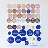 Skin Care stickers Colors