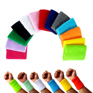 Pair of 100% Cotton Wrist Supports for Men and Women
