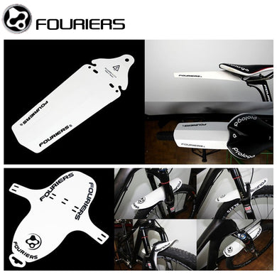 2 Pcs/Set of Bicycle Mudguards: Portable, Quick Release Front and Rear Fenders for Road and Mountain Bikes