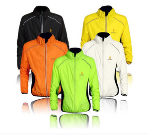 Windproof and Waterproof Sleeveless Vest or Long Sleeve Cycling Jacket