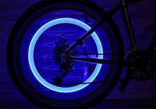 4 Piece Set of LED Bicycle Lights for Your Tire Valve Caps
