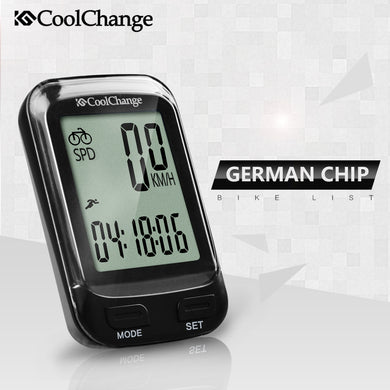 Waterproof Wireless Multifunction LCD Bicycle Speedometer and Stopwatch