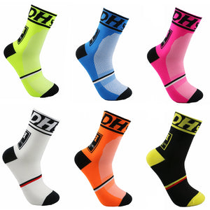 New Cycling Socks Top Quality Professional Brand Sport Socks Breathable Bicycle Sock Outdoor Racing Big Size Men Women