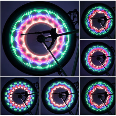 Colorful Wheel Spoke Bicycle Light Strip with 32 Waterproof LED Lights
