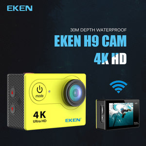 Eken 30M Waterproof H9 / H9R Ultra HD 4K Extreme Sports Action Camera and Video Camera with 2 Inch Screen and 1080 Pixels