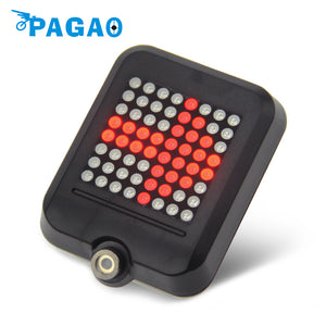 64 LED Light Intelligent Steering Safety Directional Signal and Brake Light for Night Riding, with USB Charger